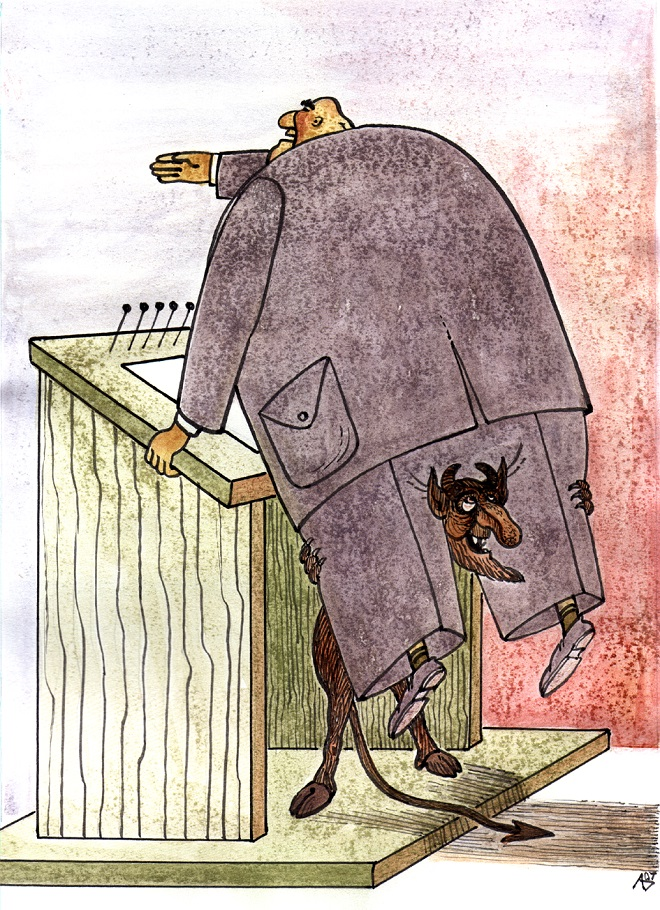 Karikatura: Andrius Deltuva (12. Zemunski salon karikature)