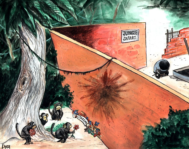 Karikatura: Dušan Gađanski (12. Zemunski salon karikature)