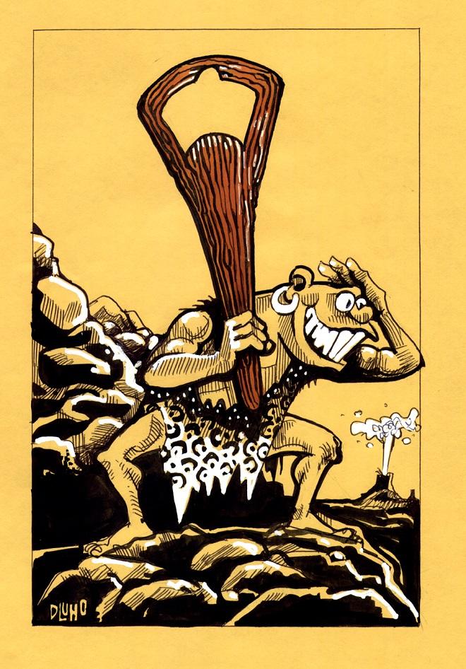 Karikatura: Laszlo Dluhopolszky (12. Zemunski salon karikature)