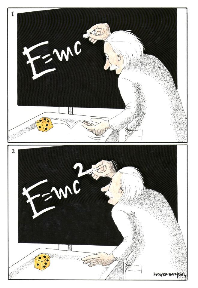Karikatura: Ricciotti Marampon (12. Zemunski salon karikature)