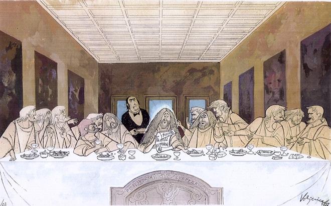 Karikatura: Ico Voljevica - Poslednja večera