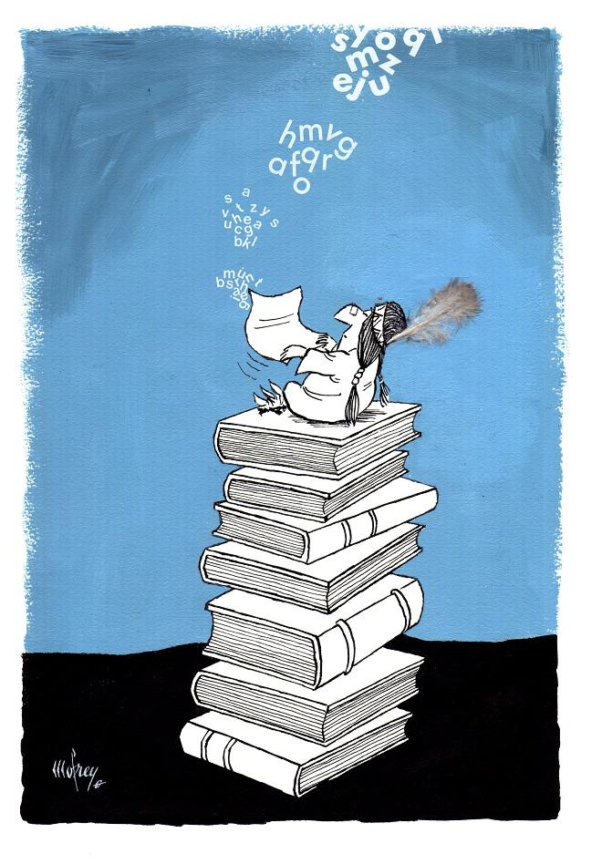 Karikatura: Roger Mofrey (12. Zemunski salon karikature)