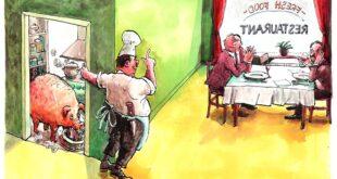 Karikatura: Luc Vernimmen (15. Zemunski salon karikature)