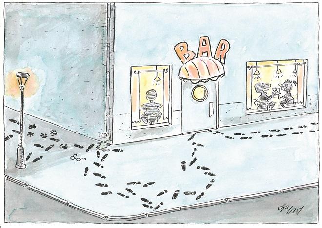 Karikatura: Evžen David (15. Zemunski salon karikature)
