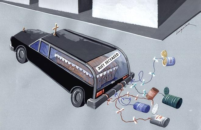 Karikatura: Luka Lagator (12. Zemunski salon karikature)
