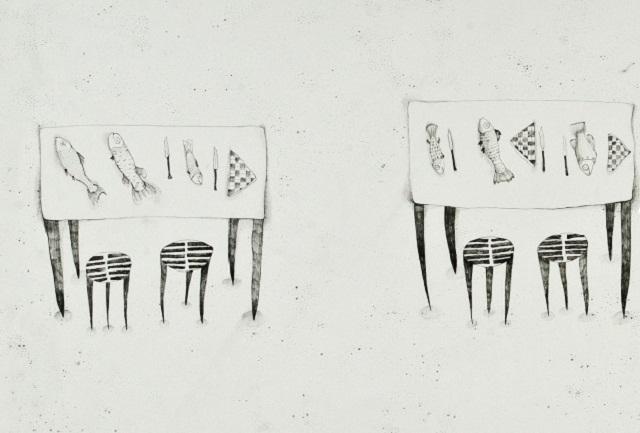 Hana Rajković: crtež, detalj