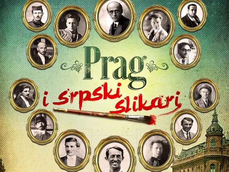 Prag i srpski slikari - plakat
