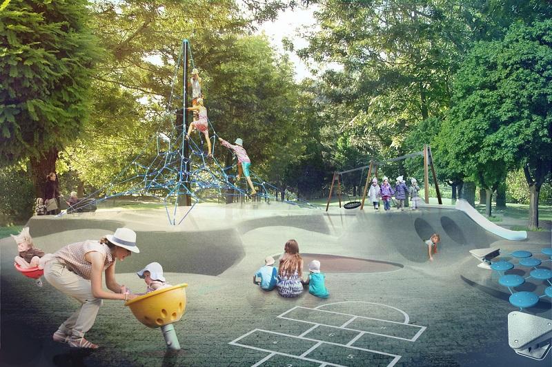 Kalemegdan - igralište za decu (montaža)