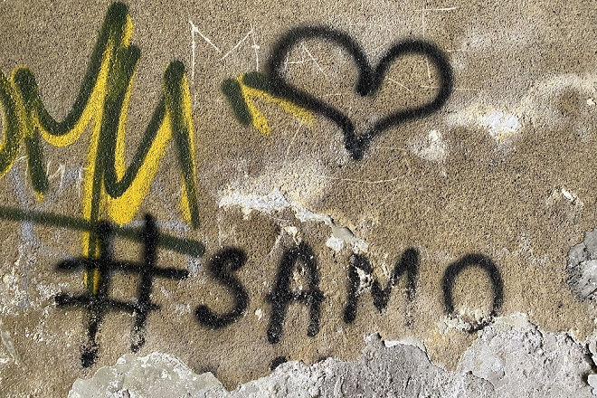 Beograd i grafiti: Samo (nam je) ljubav (potrebna) (foto: Aleksandra Prhal)