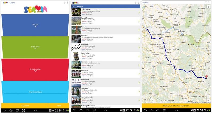 Serbia Events - aplikacija