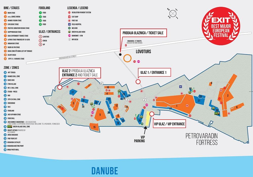 Exit 2014 - mapa