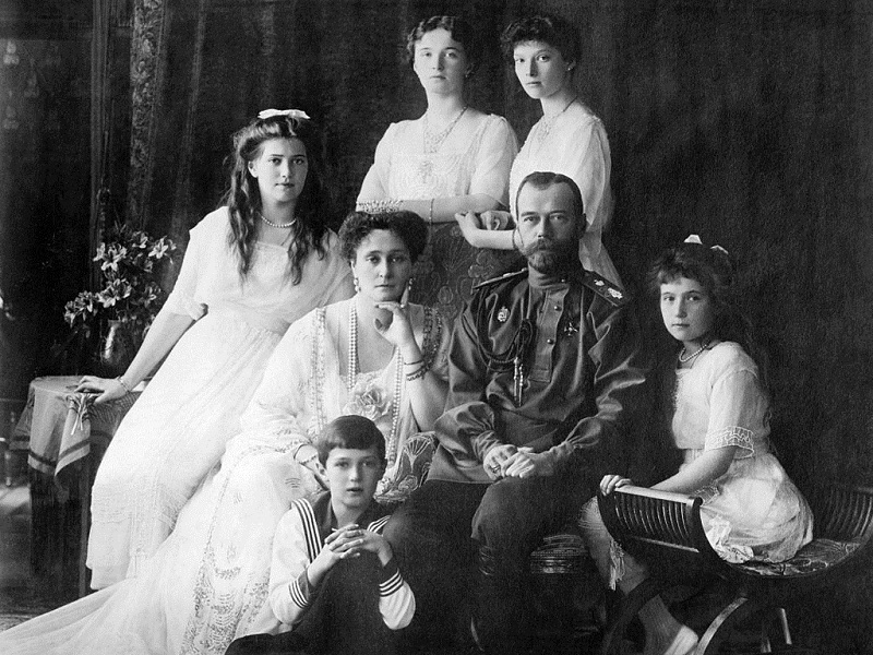 Car Nikolaj i porodica, 1914