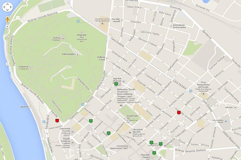 Mapa pristupačnosti