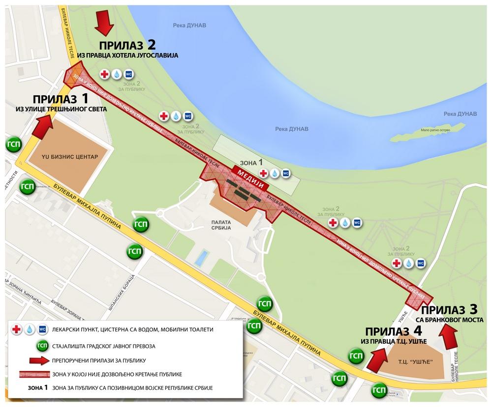 Vojna parada - mapa