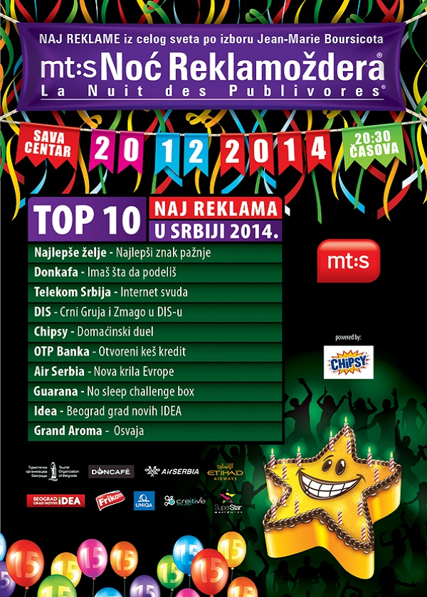 Noć reklamoždera 2014: Top 10