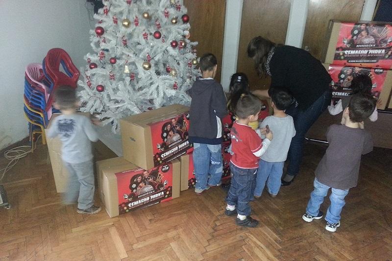 Semafor žurka - prikupljanje poklona