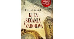 NIN-ova nagrada 2014: Filip David - Kuća sećanja i zaborava