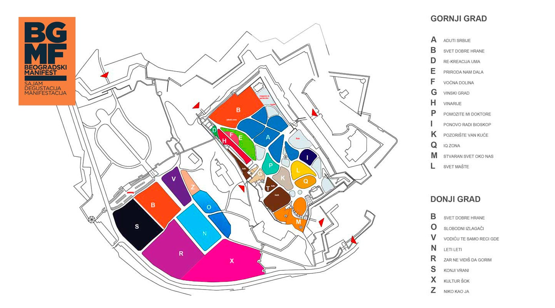 Beogradski manifest - mapa