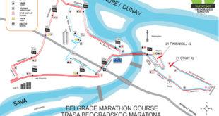 Beogradski maraton 2015 - trasa