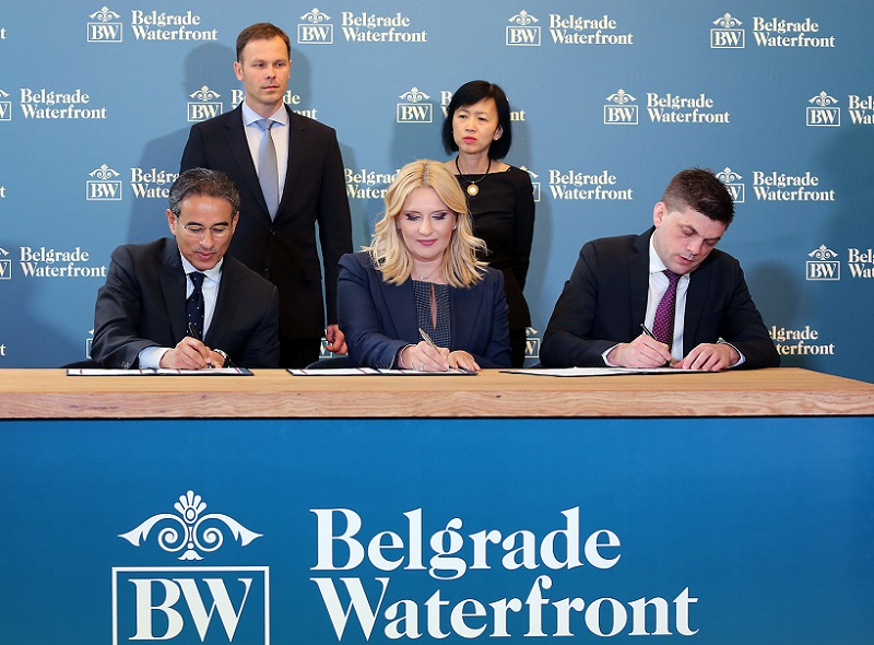 """Potpisivanje Ugovora o realizaciji projekta """"Beograd na vodi"""""""