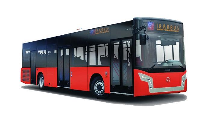 Crvena boja vozila gradskog prevoza