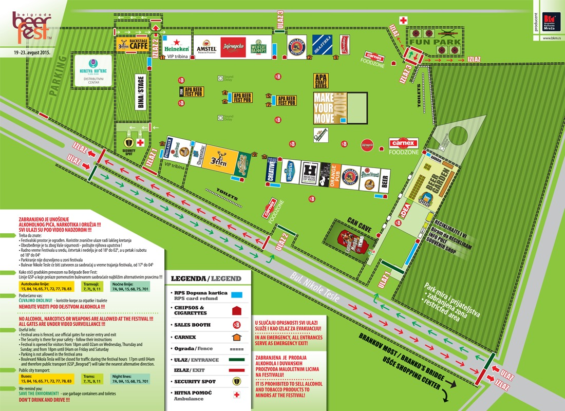 Belgrade Beer Fest - mapa