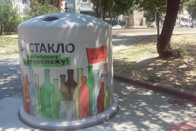 Kontejner za staklenu ambalažu (foto: danubeogradu.rs)