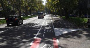 Biciklističke trake u Bulevaru oslobođenja
