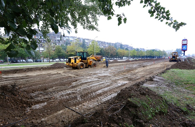 Novi Beograd - novi parking - radovi