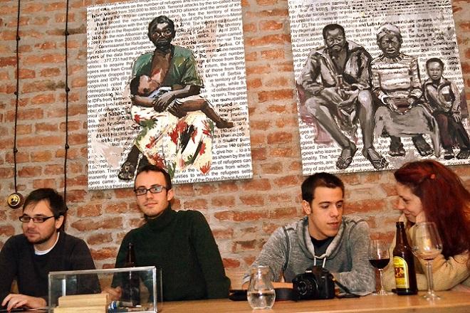 Afrika na platnima Aleksandre Lekić; foto: Narcis Selimić
