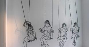 """Nina Ivanović: crtež žicom iz kolekcije """"Swing"""". Foto: ninaivanovic.com"""