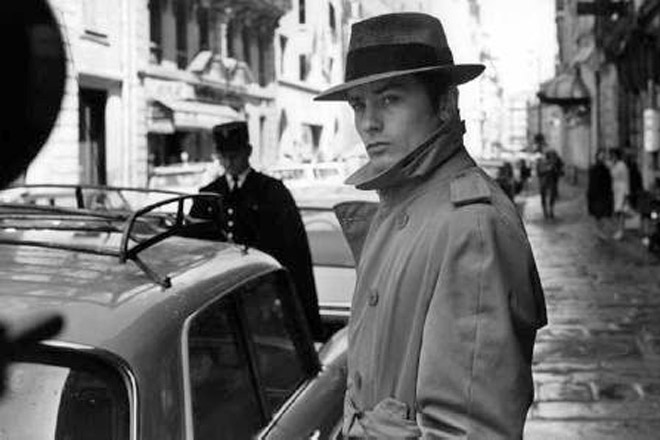 """Alen Delon u filmu """"Samuraj"""", 1967."""