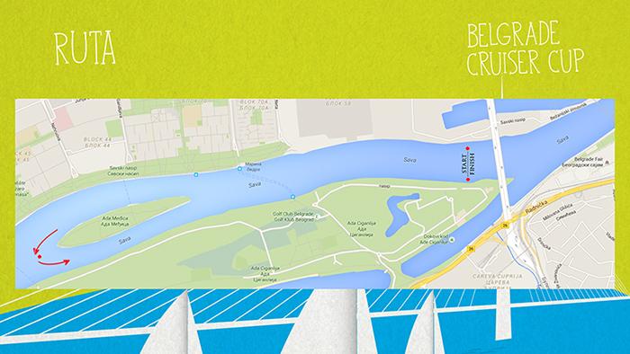 Belgrade Cruiser Cup - ruta