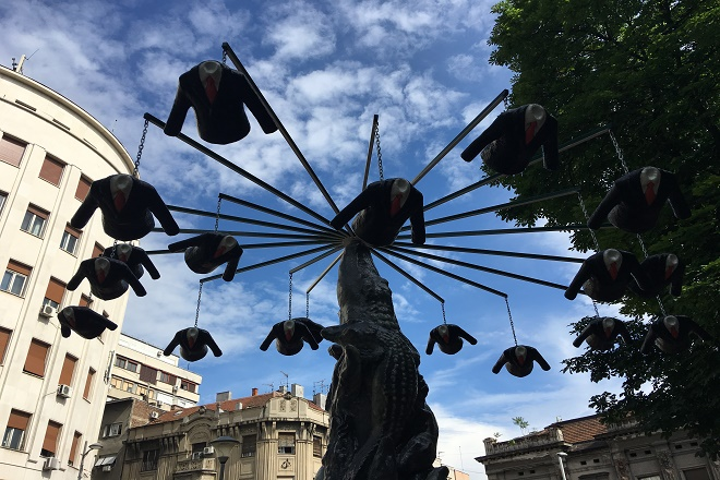 Nova skulptura u Parku vojvode Vuka - Dolap