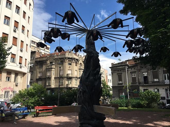 Nova skulptura u Parku vojvode Vuka (foto: Relja Đorđević)
