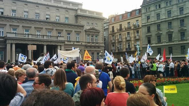 Treći protest i šetnja po Beogradu (foto: M. Tripković)
