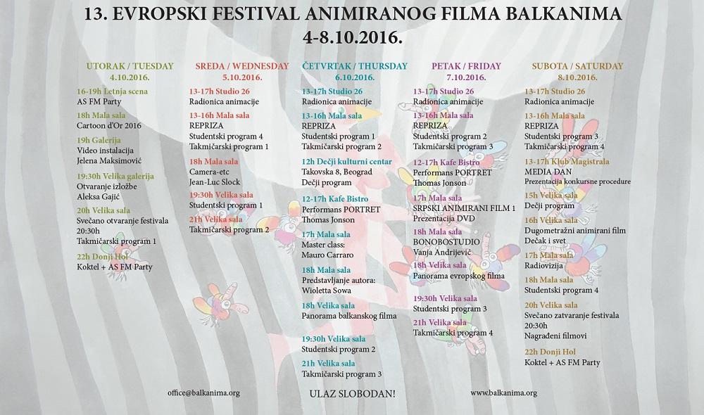 Balkanima 2016 - program