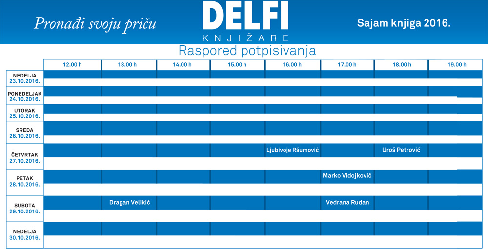 Delfi knjižare - program