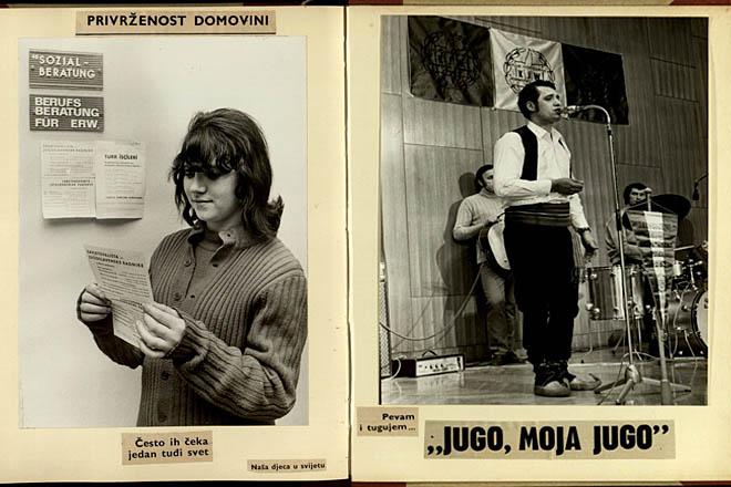 """Prva izložba o gastarbajterima. Foto: Jugoslovenski klub """"Jedinstvo"""", Beč, 1972. godina"""