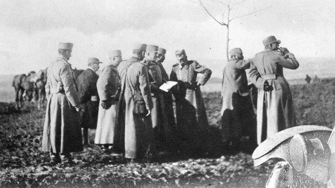 Kralj Petar obilazi front, oktobar 1915.