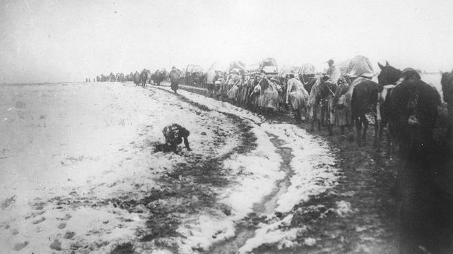 Srpske izbeglice u povlačenju, 1915.