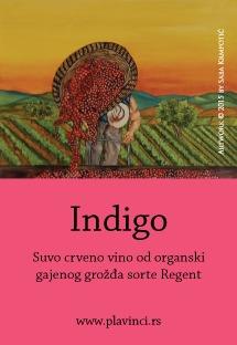 Organsko vino - Indigo - etiketa; Vinarija Plavinci