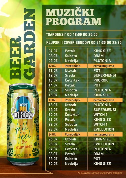 Beer Garden 2017 - program