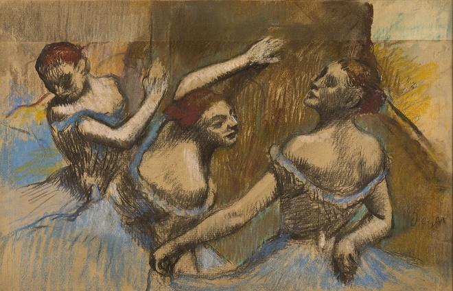"Galerija SANU: ""Edgar Dega: Trenuci posmatranja"" - Tri balerine u palvom, oko 1900."