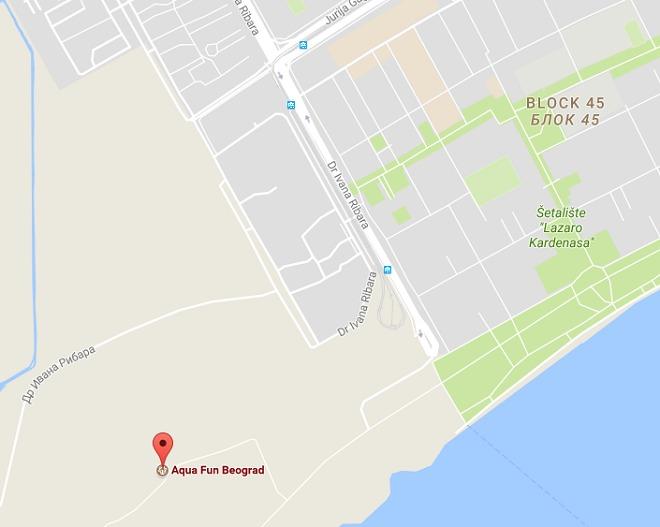 Aqua Fun - mapa