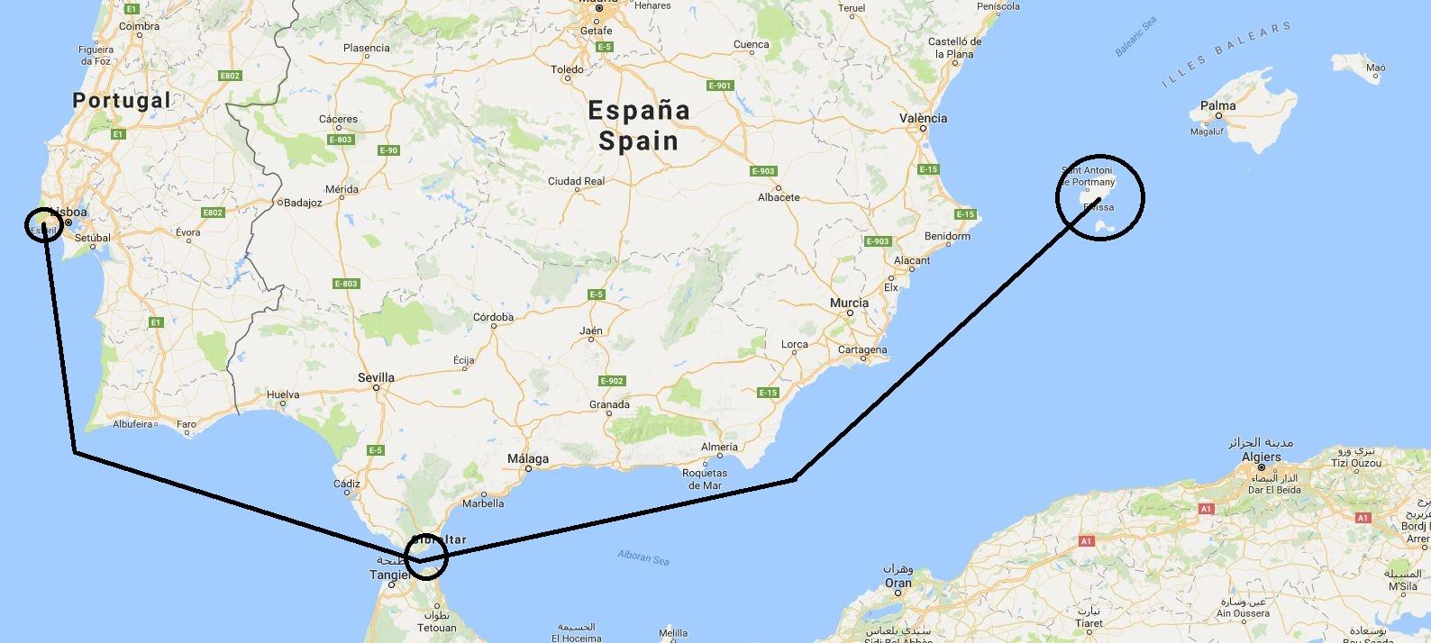 Daedalus Adventure - mapa (Gibraltar Ibica)
