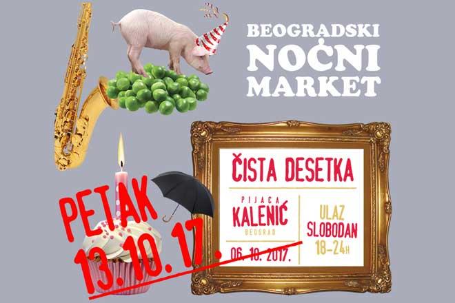 Deseti Beogradski noćni market na Kalenić pijaci