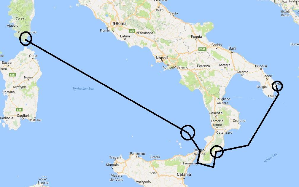 Daedalus Adventure - mapa - Italija