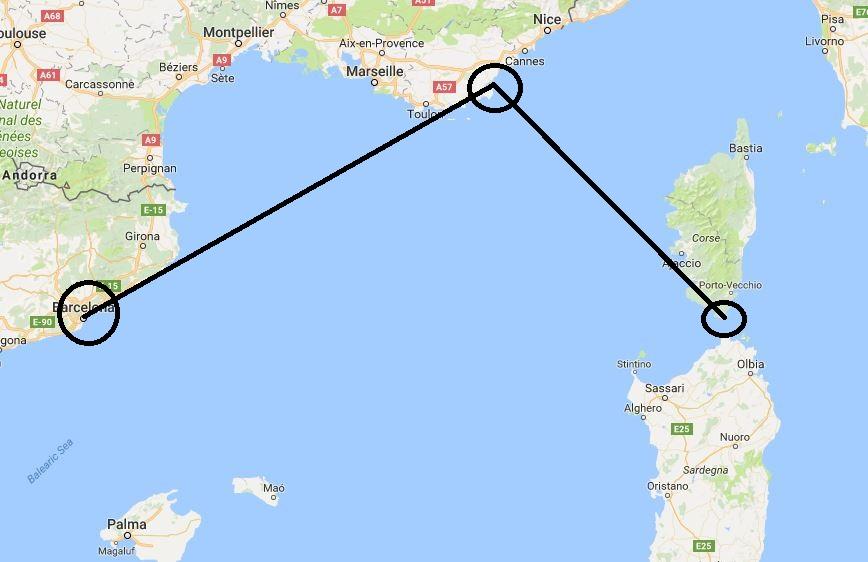 Daedalus Adventure - San Trope i Bonifačo - mapa
