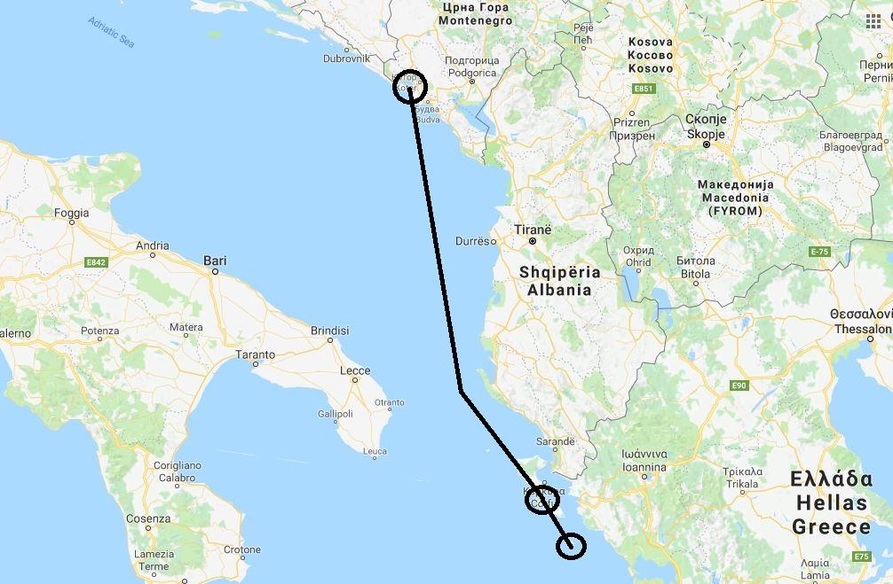 Daedalus Aventure - mapa - Krf i Paksos